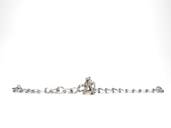 Vintage Charm Bracelet Silver Letter A Attendance 1940s