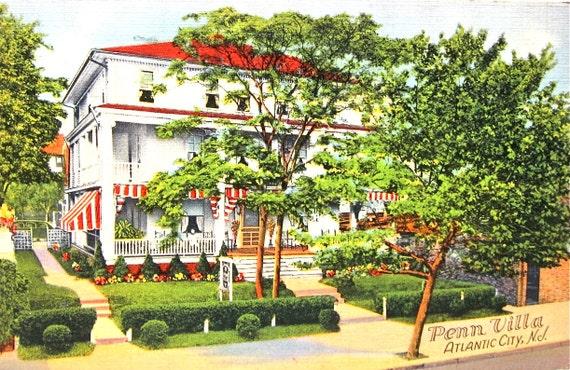 Jersey Shore Postcard Vintage Atlantic City Hotel 1930s