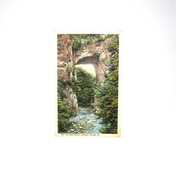 Postcard Virginia Vintage Bridge VA Post Card 1910s Natural Landmark