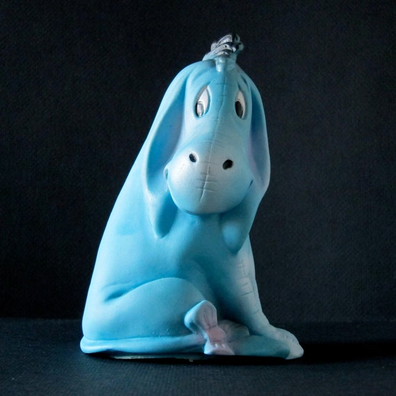 Vintage Eeyore Toy Rubber Squeak Toy 60s Winnie the Pooh Collectible Rare Rubber Toys Mid Century Famous Sad Blue Donkey A.A. Milne Disney