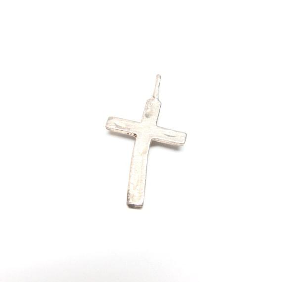 VIntage Cross Charm Silver Vintage 14K Gold Sterling Silver Pendant