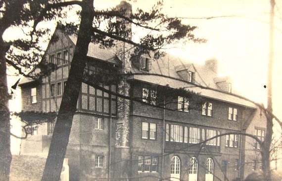 Antique RPPC NoKo Post Card Tudor Building Photo 1910s