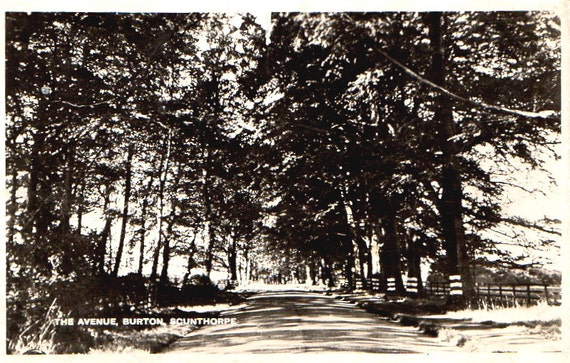 Antique Postcard RPPC Country Road Scunthorpe England