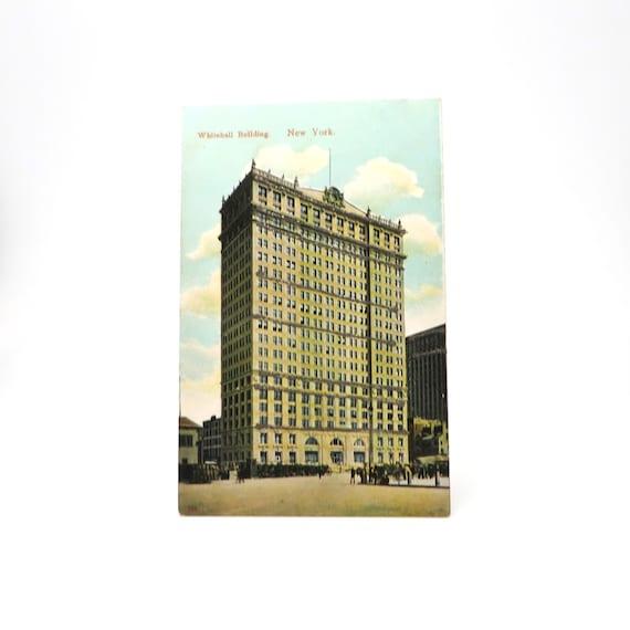 Antique Postcard NYC Whitehall Building New York 1900s
