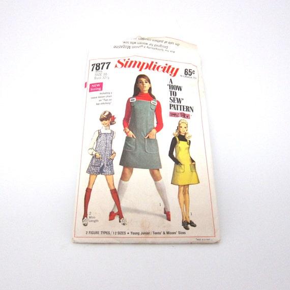 Vintage Pattern Jumper 1960s Young Junior Teens Misses
