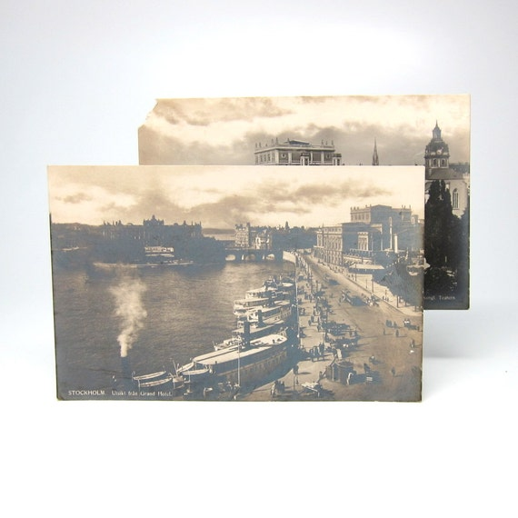 Vintage Postcards Stockholm Sweden Nordisk Konst 1920s