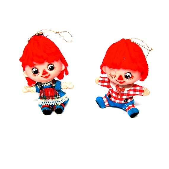Raggedy Ann and Andy Dolls Ornaments Holiday Christmas Collectibles Raggedy Andy