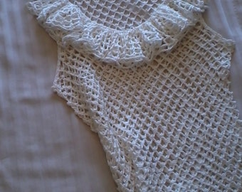 Angel Blanc Lace Overlay or Tank Top