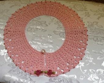 Pink Peter Pan Collar