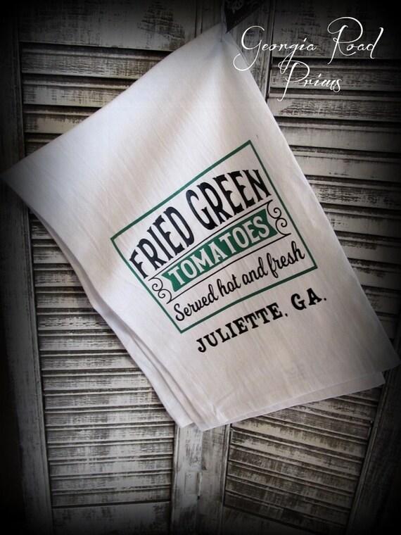 Fried Green Tomatoes Flour Sack Towel~Movie Memorabilia Tea Towel~  Gift~Gift for Her~Christmas Gift~Friend Gifts~ Housewarming Gift~