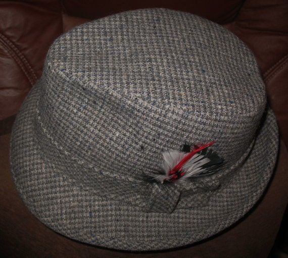 3a35de69fe9f8 Vintage Pendleton Retro Fedora Hat with Feather for Men Size