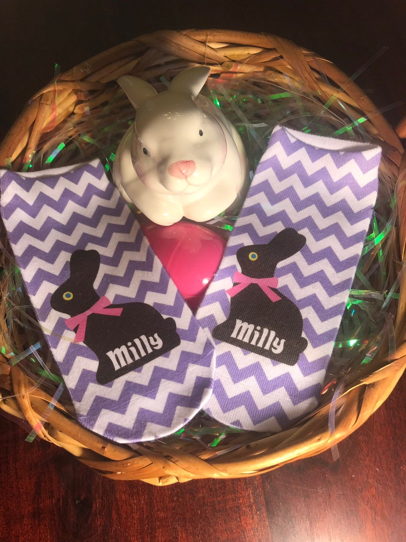 Personalized Chocolate Bunny No Show Socks