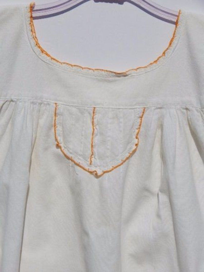 MEXICAN Muslin Top With Lace Detail  Ethnic  70/'s  Hippie  XS