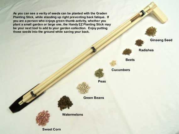 Garden And Ginseng Planting Stick Gardening Tool Wooden Steel Etsy