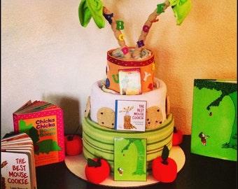 Children's Book Theme Baby Shower Diaper Cake