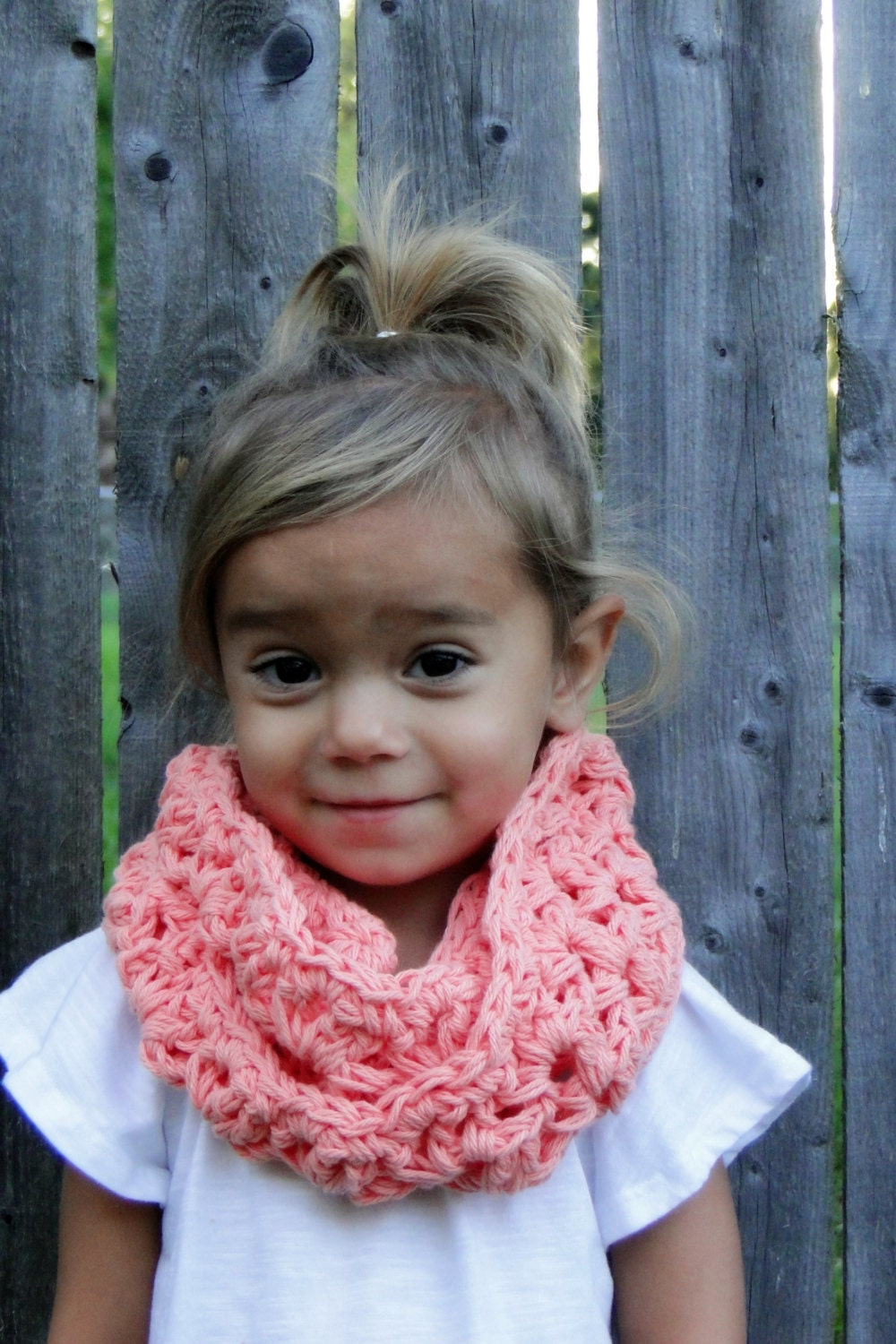 Kids Scarf Girls Crochet Cowl Kids Infinity Scarf Toddler