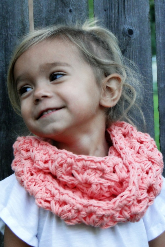 Crochet Cowl For Kids Girls Scarf Kids Infinity Scarf Etsy