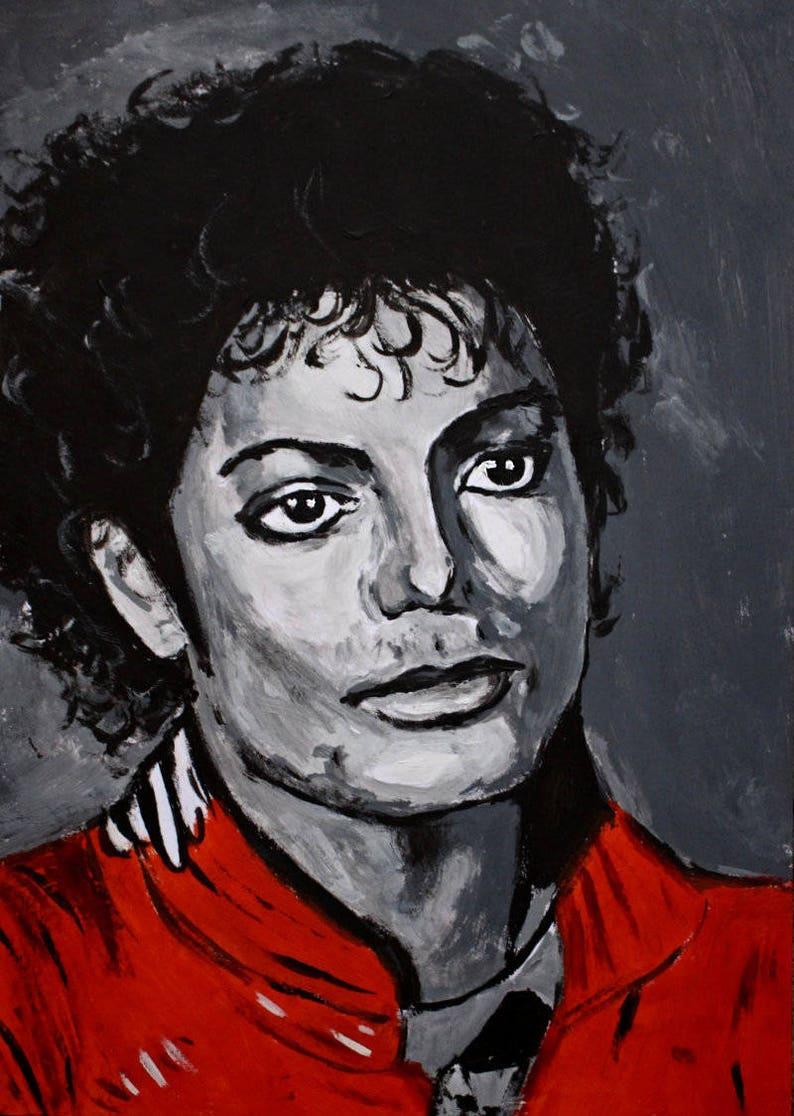 Pop Art Porträt Von Michael Jackson Handbemalt Etsy