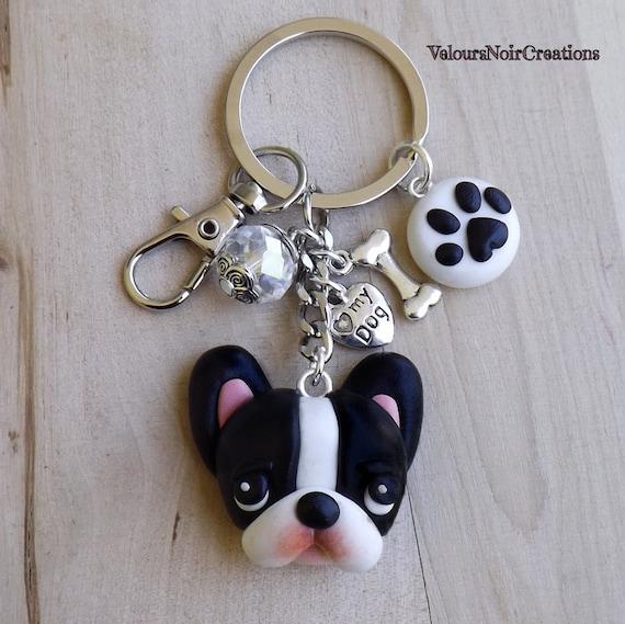 wählen Französisch Bulldog french bulldog Schlüsselanhänger key chain EMBC1