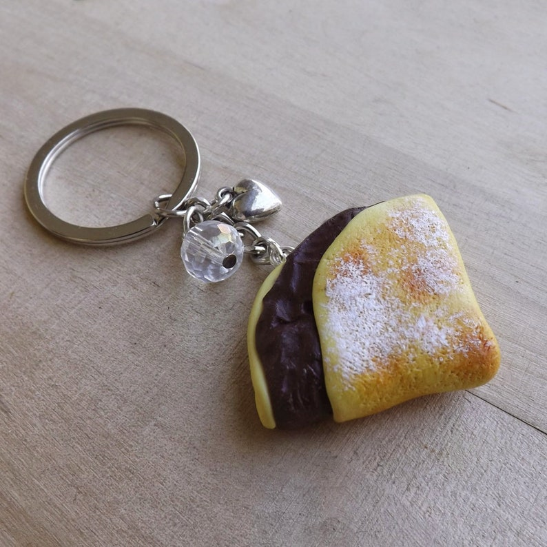 Crepes Nutella keychain polymer clay handmade