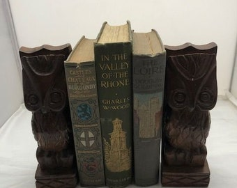 Custom Created Echo bookends, woodland animals, brown Fox and Raccoon Wooden Bookends