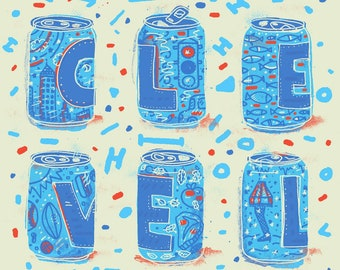 Cleveland Cans - Silk Screened Poster