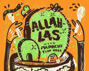 Allah-Las - Cleveland - Silk Screened Poster