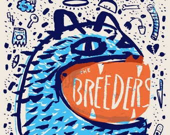 Breeders - Nelsonville - Silk Screened Poster