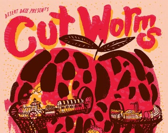 Cut Worms - Los Angeles - Silk Screened Poster
