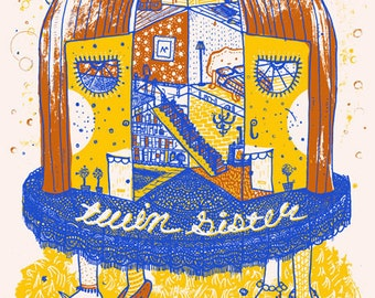 Twin Sister Silk Screened Cleveland Poster