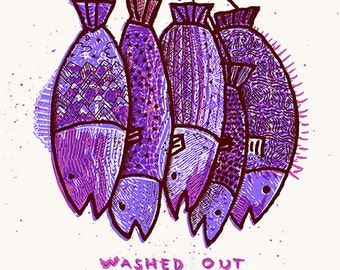Washed Out Silk Screened Poster