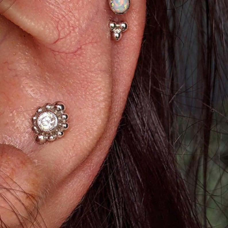 CZ Diamant Knorpel Ohrring Tragus Ohrring Knorpel piercing