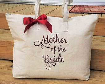 Monogrammed Tote Bag Mother of the Bride Mother of the Groom Personalized Bags Wedding Tote Bags MOB MOG