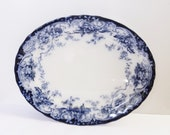 ANTIQUE ENGLISH PLATTER - Chatsworth 1790 Pattern by Keeling Co. - Circa 1900 - 12 3 4 quot (32.5 cm) x 16 quot (40.5 cm) - 2 Available