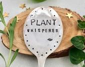 Plant Whisperer hand stamped spoon Garden Art, Funny Silverware label