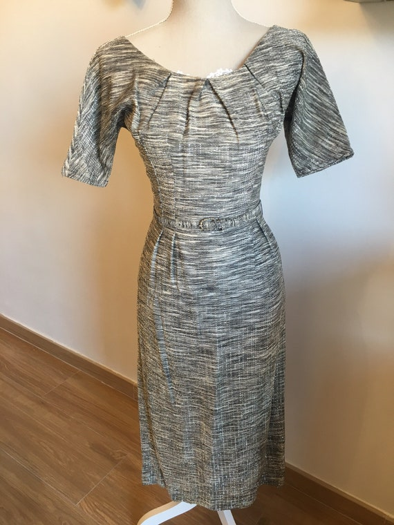 Vintage 1950's Lurex Cocktail Dress.