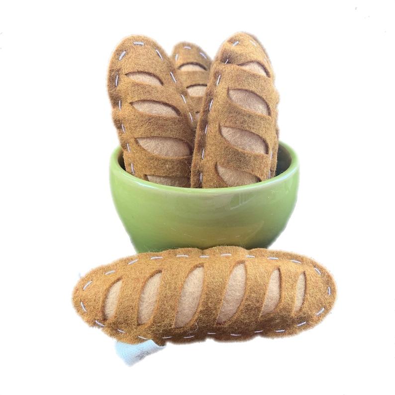 catnip cat toy  baguette  wool felt image 0