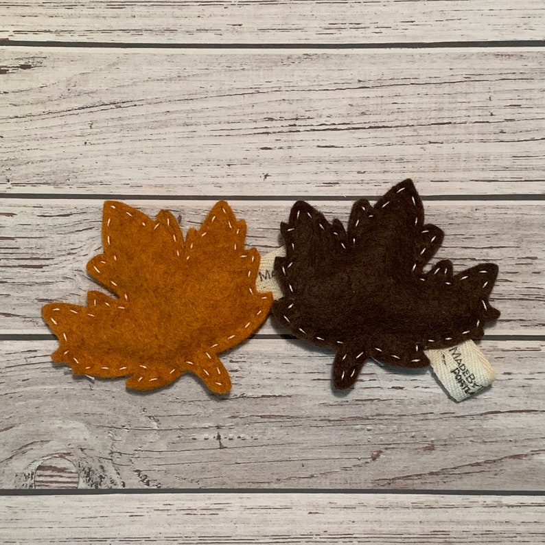 catnip cat toy  fall leaf  wool felt image 0