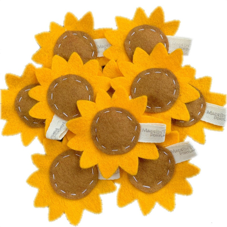 catnip cat toy  sunflower  wool felt image 0