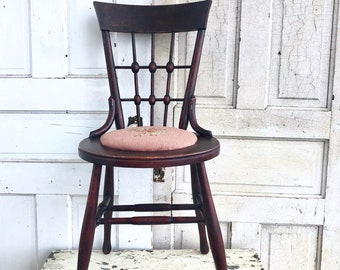 Astonishing Vintage Child Chair Wood Metal Desk Chair Heywood Wakefield Evergreenethics Interior Chair Design Evergreenethicsorg