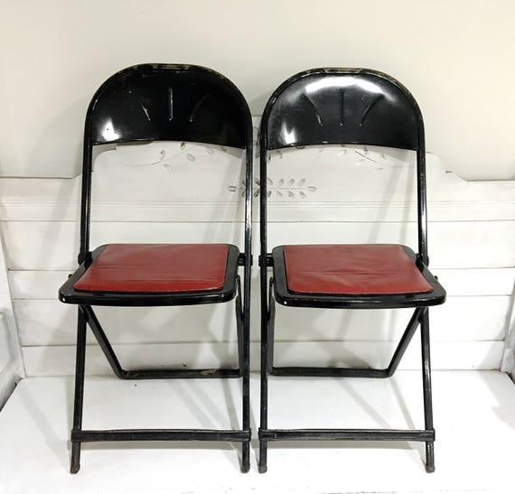 Vintage Folding Chair Metal Midcentury Hampden Company | Etsy