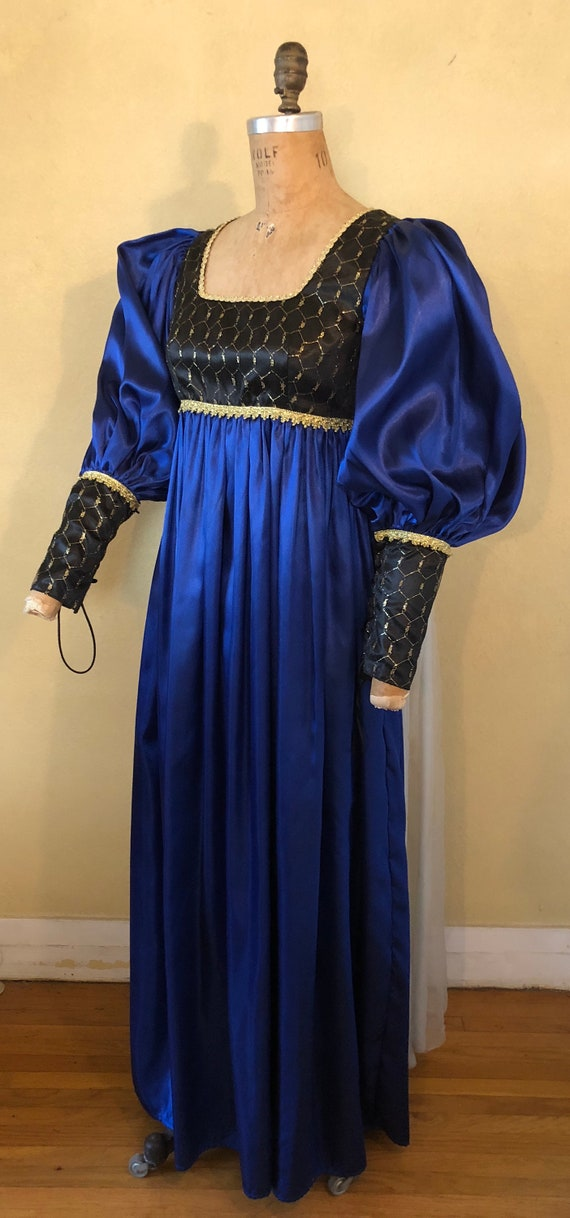 Renaissance Blue Juliet Gown Small Halloween Costume Medieval | Etsy