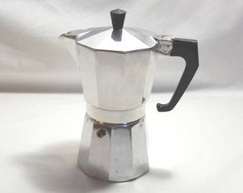 Gemelli 4 Cup 1.5 oz Size Shot Espresso Stovetop Coffee Maker Pot Aluminum Portugal -3