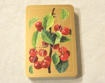 Cerise sur la branche jeux de cartes à jouer or pont Piatnik Vienne échange commerce artisanat Art altéré Scrapbooking