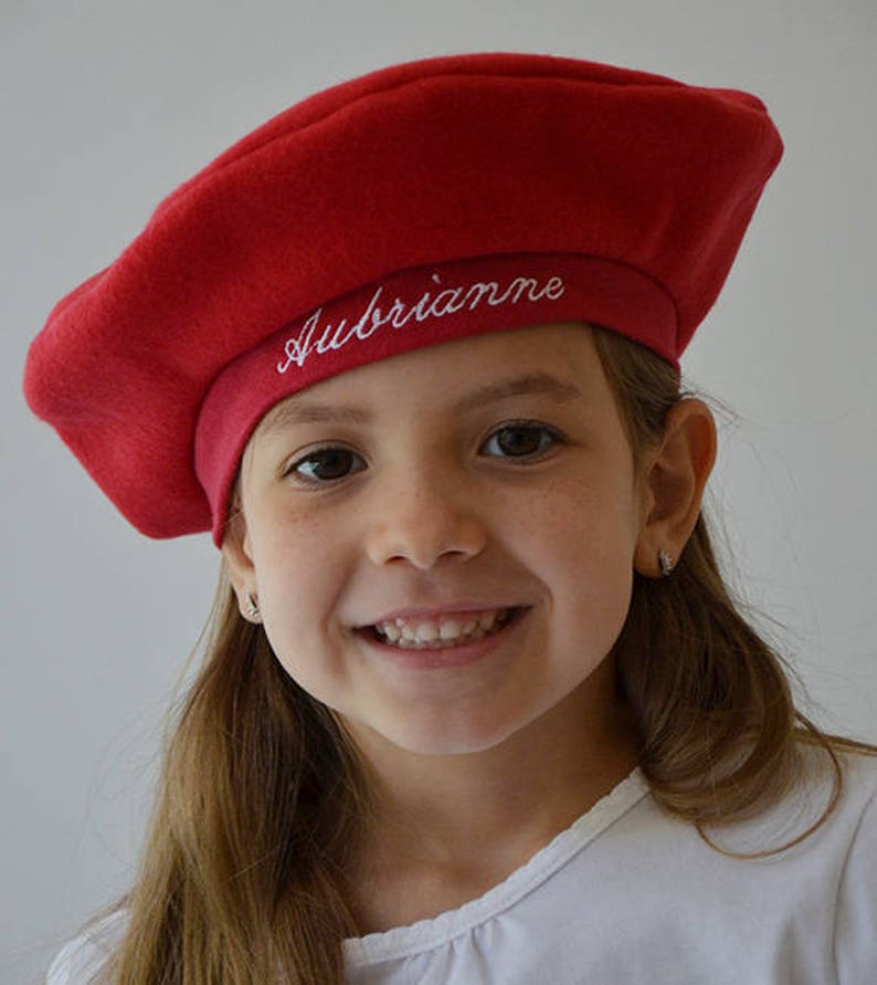 c73d94abfc437 PERSONALIZED French Beret CHOOSE COLOR And Font Kids Babies