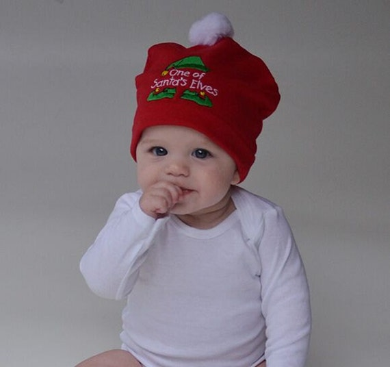dc4929cd29c6d Christmas Beanie for Baby Red White Green Baby Knit Hat Santa's Elf Hat  Baby Christmas Hat Baby Hats Photo Prop Outer Wear Holiday