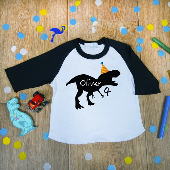 Dinosaur Birthday Shirt Boys 4th Dino