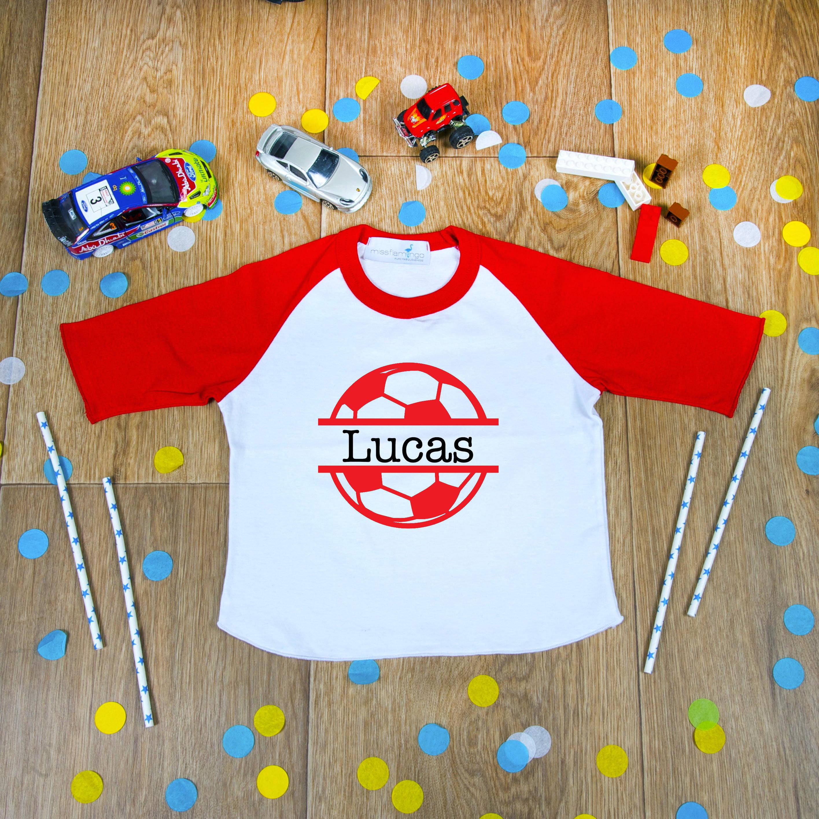 Soccer Dinosaur Toddler Raglan Kids Soccer Shirt Dinosaur Soccer Jersey Shirt