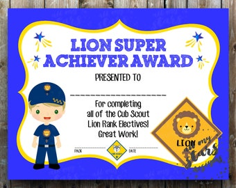 photograph relating to Cub Scout Printable named Cub scout printables Etsy