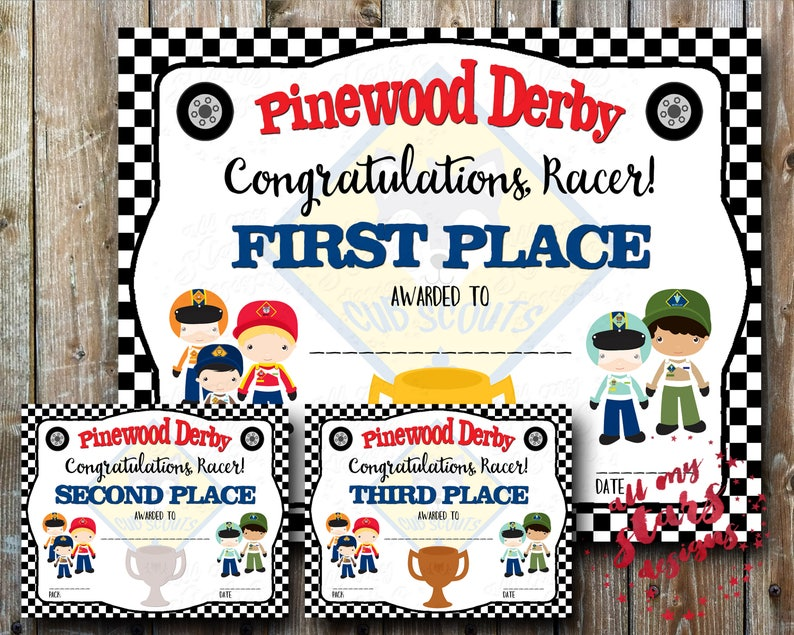 graphic about Pinewood Derby Awards Printable titled Cub Scout Pinewood Derby Issue Certificates Incorporates Earlier mentioned 50 Award Printables 1st throughout 6th Den Awards In general Pack Fillable Fields